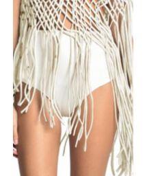 Gräddfärgad nedredel med hög midja - catwalk modell - BOTTOM VEST OFF WHITE