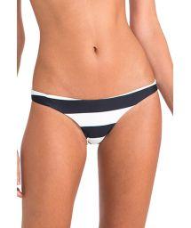 Luxury fixed striped swimsuit bottom - CALCINHA BASIC ATHLETIC STRIPES