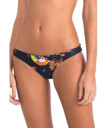 Luxury reversible bikini bottoms with pattern - CALCINHA FOLK EMBROIDERED ATHLETIC