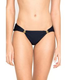 Accessorised navy blue Brazilian bottom - CALCINHA KAIMU