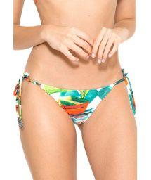 Plant pattern print Brazilian bikini bottom - CALCINHA NEW ROLOTE TAORMINA