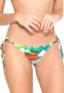 Plant pattern print Brazilian bikini bottom - CALCINHA NEW ROLOTE TAORMINA