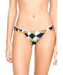 Geometric swimsuit tanga with metal detailing - CALCINHA ORIGAMI