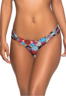 Fixed Brazilian bikini bottom geometric print - BOTTOM BOLHA ART DECO