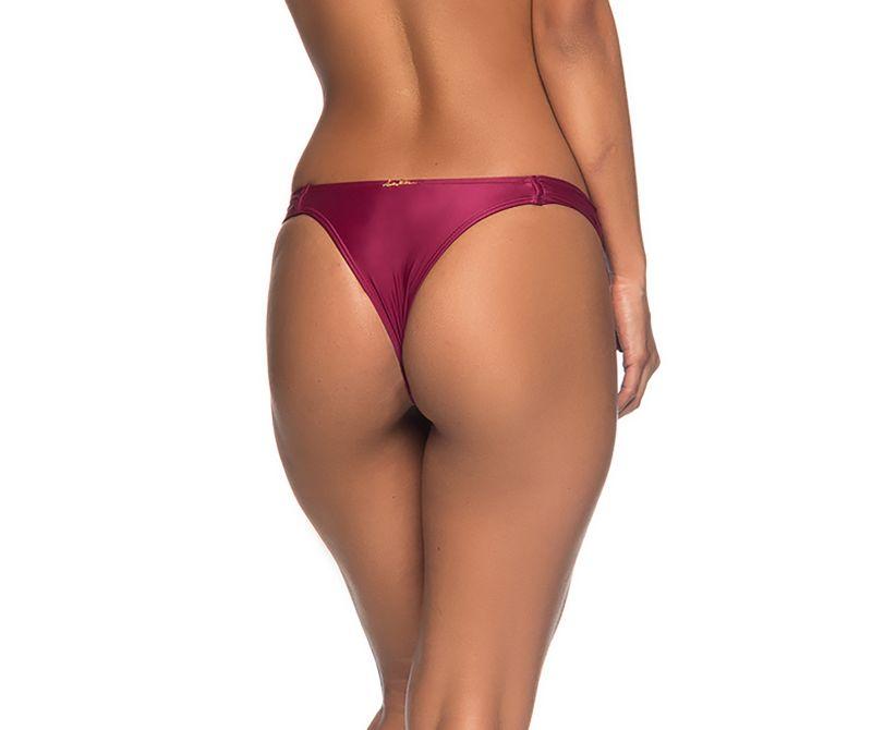 Körsbärsrödstadig brasiliansk bikininederdel - BOTTOM BOLHA CERISIER