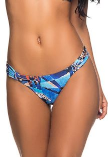 Blue print Brazilian bikini bottom  - BOTTOM BOLHA CRYSLER