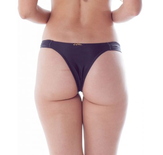 BOTTOM BOLHA DRAPE PRETO
