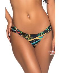 Colorful print Brazilian bikini bottom - BOTTOM BOLHA MOSAIC