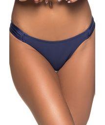 Fixed dark blue Brazilian bikini bottom - BOTTOM BOLHA NEW YORK