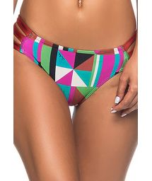 Colorful geometric tab-side bottom with pleated sides - BOTTOM BOLHA REMOV DELAUNAY