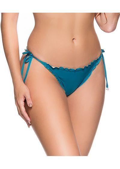 Blue side-tie scrunch bikini bottom - BOTTOM CORTINAO FRENCH