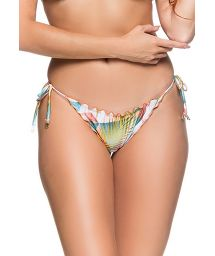 Geometric pastel side-tie scrunch bikini bottom - BOTTOM CORTINAO GEOMETRIC ART