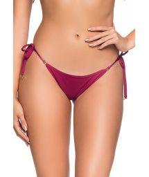 Burgundy side-tie bikini bottom - BOTTOM CORTININHA CERISIER