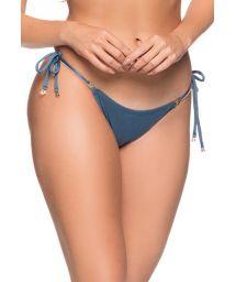 Deep blue side-tie bikini bottom - BOTTOM CORTININHA ELEGANCE
