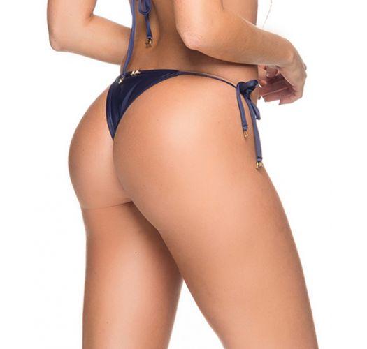 Dunkelblaue Bikinihose mit Seitenschnüren - BOTTOM CORTININHA NEW YORK