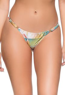 Geometric pastel adjustable string bikini bottom - BOTTOM CROPPED GEOMETRIC ART