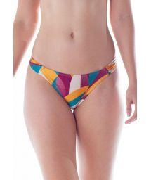 Farbenfrohe Bikinihose mit plissierten Seiten - BOTTOM DRAPE TURBINADO RAMA