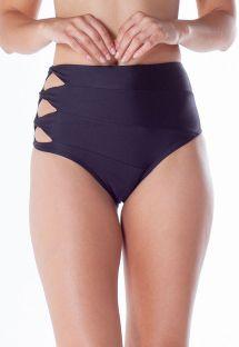 Original black high-waist bikini bottom - BOTTOM FAIXA ACESSORIO PRETO