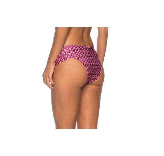 Larger side pleated pink bikini bottom - BOTTOM IPIOCA