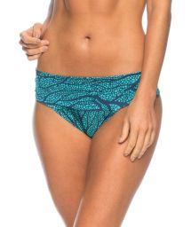 Blue coral Brazilian bottoms with wide waistband - BOTTOM ISAURA SEA BLUE