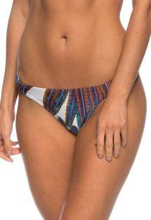 Fastsiddende tanga bikinitrusser med mønster og plisserede sidestykker - BOTTOM JUAZEIRO