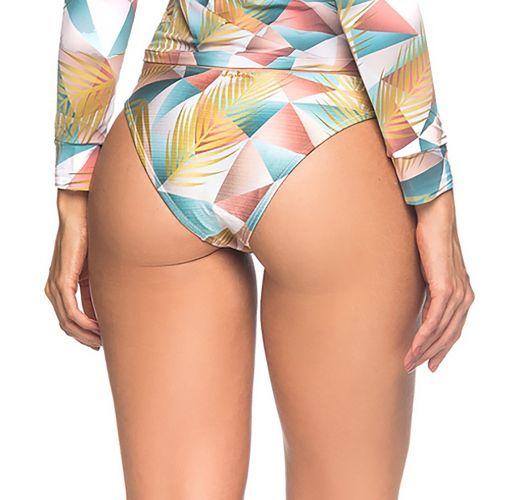 Pastellfarbene Bikinihose mit Doppelseiten - BOTTOM LONGA GEOMETRIC ART