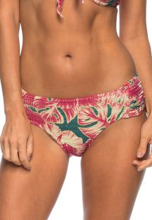 Hibiscus flower pleated bikini bottom - BOTTOM MAR CALMO