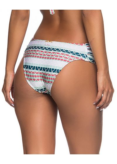 Graphic bikini bottom with pleated sides - BOTTOM NO BEEHIVE