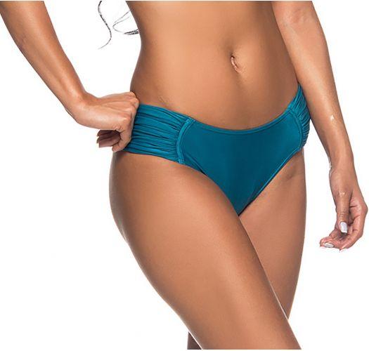Blaue Bikinihose mit plissierten Seiten - BOTTOM NO FRENCH