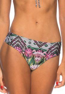 Colorful string bikini bottom with larger side - BOTTOM PENEDO