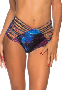Strappy high-waisted bikini bottom - ocean - BOTTOM PRAIA DO FRANCES