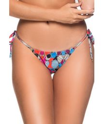 Geometric side-tie scrunch bikini bottom - BOTTOM RIPPLE ART DECO