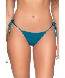 Side-tie blue scrunch Brazilian bikini bottom - BOTTOM RIPPLE FRENCH