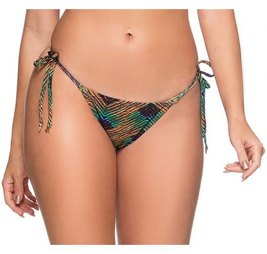 Farbenfrohe Scrunch-Bikinihose, Rand gewellt - BOTTOM RIPPLE METALLIC