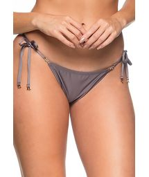 Grey side-tie scrunch bikini bottom - BOTTOM RIPPLE VINTAGE