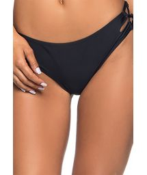 Black Brazilian bikini bottom laced sides - BOTTOM ROLETÊ PRETO