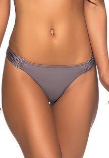 Graue Mikro-Bikinihose mit plissierten Seiten - BOTTOM SUPER UP VINTAGE