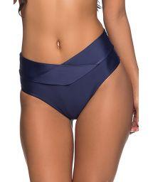 Navy larger side bikini bottom pleated sides - BOTTOM SUSTENTACAO  NEW YORK