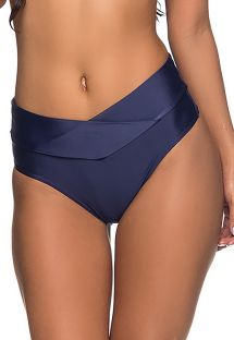 Navy larger side bikini bottom pleated sides - BOTTOM SUSTENTACAO  NEW YORK