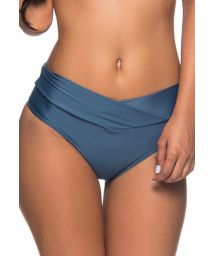 Dark blue fold over bikini bottom - BOTTOM SUSTENTACAO ELEGANCE