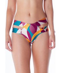 Farbenfrohe Bikinihose mit Doppelseiten - BOTTOM TQC ILHOS RAMA