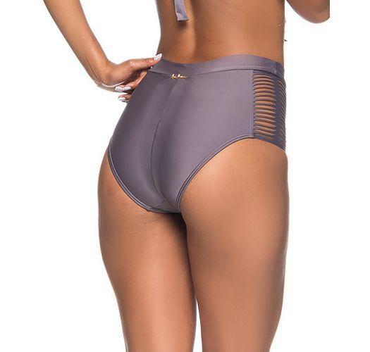 Graue High-Waist-Bikinihose, Strappy-Seiten - BOTTOM TQC TRESSE VINTAGE