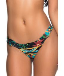 Brazilian bikini bottom pleated sides in colorful print - BOTTOM TURB MOSAIC