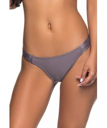 Grey Brazilian bikini bottom pleated sides - BOTTOM TURB VINTAGE