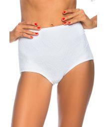 White textured high-waisted bikini bottom - BOTTOM VATAPA