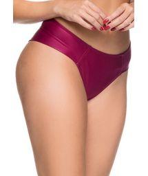 Cherry red tab side bikini bottom - BOTTOM ZIPPER CERISIER