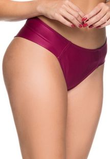 Cherry red tab side bikini bottom - BOTTOM ZIPPER CERISIER
