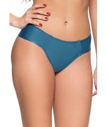 Dunkelblaue Bikinihose mit breiten Seiten - BOTTOM ZIPPER ELEGANCE