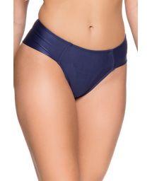 Cheeky bikini bottom in dark blue - BOTTOM ZIPPER NEW YORK