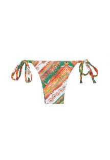 Low-rise Sicilian print bikini bottom - CALCINHA CARRETO IATE
